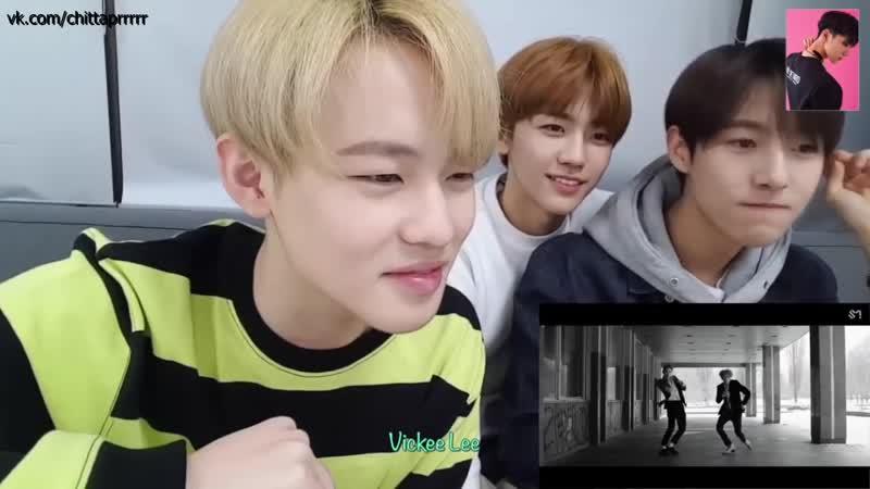 Реакция NCT Dream на клип Baby Dont Stop
