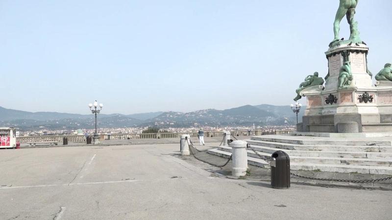 Firenze strade vuote e silenzio nel primo giorno da area protetta