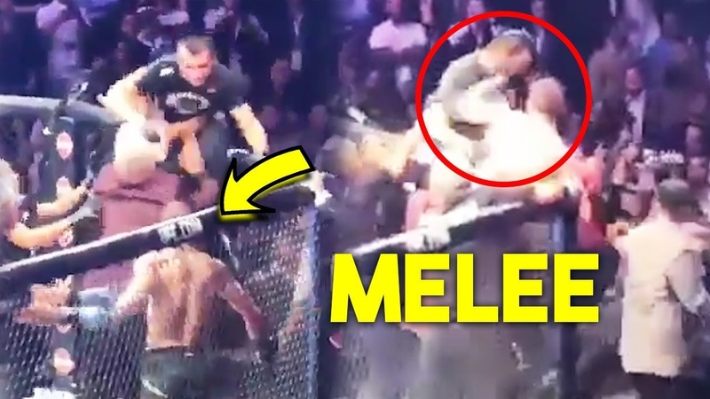 WHO CAUSED MELEE INSIDE UFC 229 OCTAGON- MCGREGOR vs TEAM KHABIB!