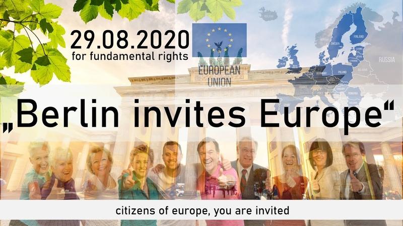 Major demonstration BERLIN INVITES EUROPE 29 08 2020
