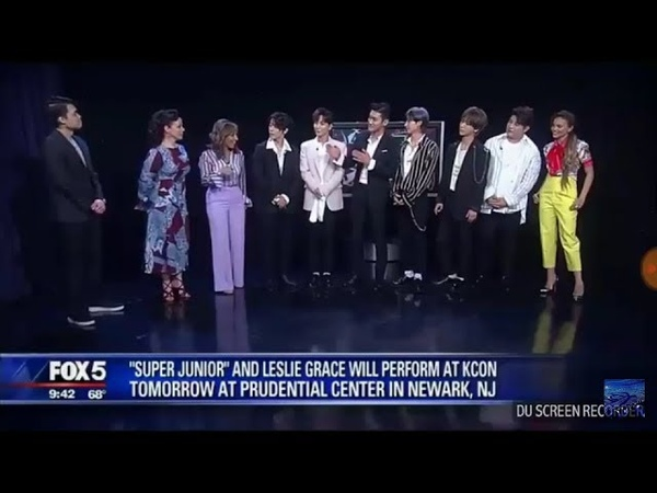 180622 SUPER JUNIOR ft. Leslie Grace Lo Siento interview on Good Day New York FOX5