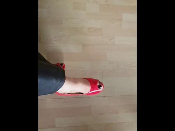Fetish LadyIve in red high heels