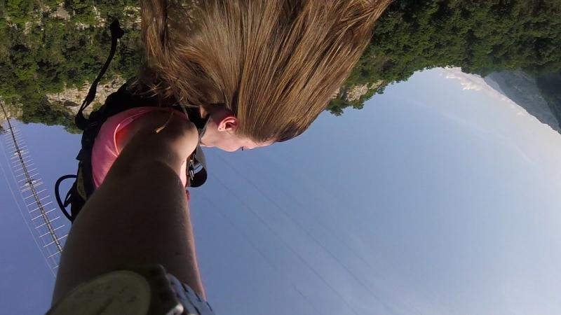 Скайпарк Сочи 207 м - 2ой прыжок спиной вперед с гоу про