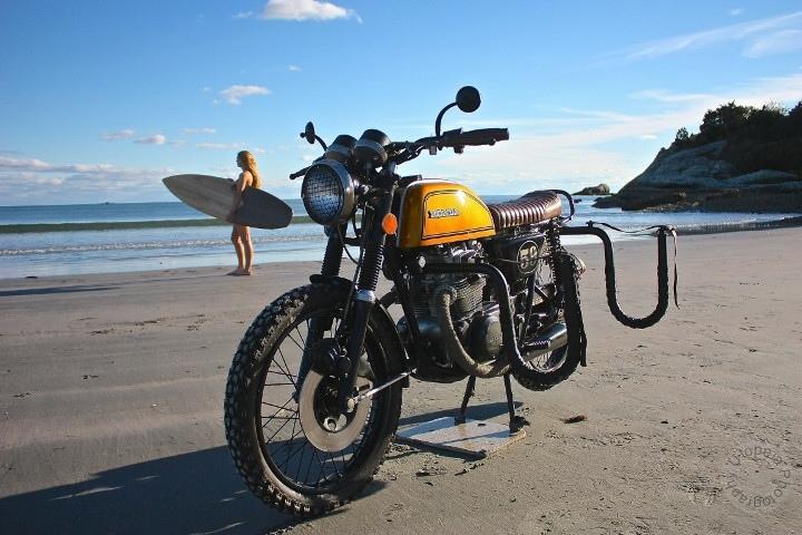 Utopeia Moto Company: брэт-трекер Honda CB200T Surf-n-Turf