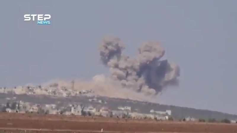 BREAKING Russian Air Forces Su-24M and Su-34 strike bombers are now heavily bombing the AlQaeda linked Hayat Tahrir al-Sham HTS