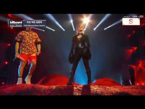Pharrell Williams x Camila Cabello Sangria Wine Havana Billboard Music Awards 2018