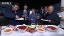 Pancakes, caviar vodka: Putin and Xi get a taste of Russian cuisine