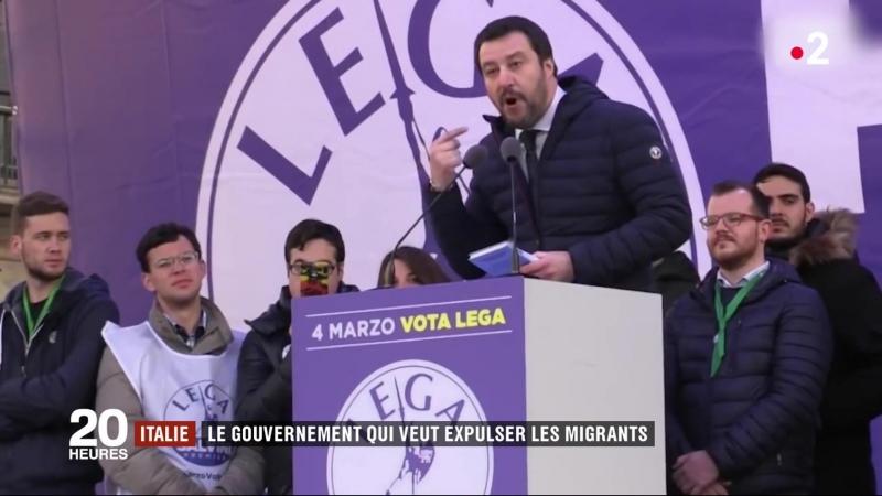 Italie le gouvernement veut expulser 500 000 migrants en un an (France 2, 210518)
