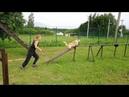 Корги Дождик на тренировке