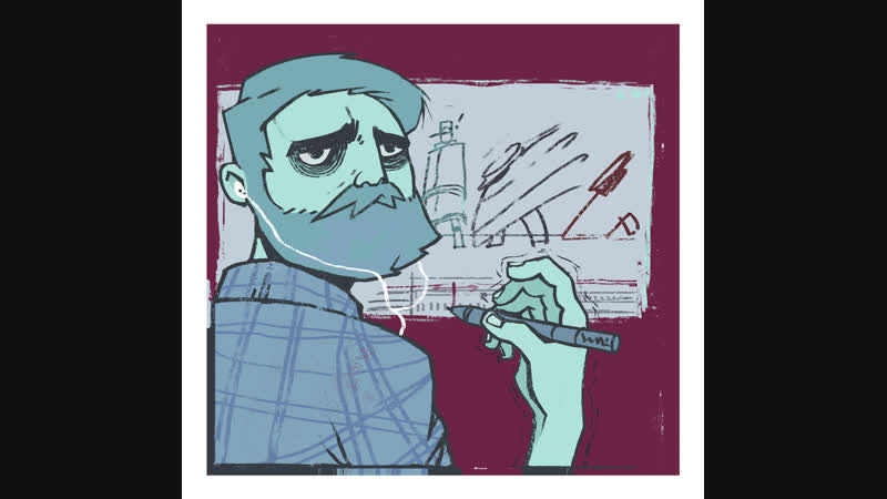 Делаем анимацию рисуем скетчи Отвал БаШкИ ИНТЕРАКТИВ человеку сдувает голову