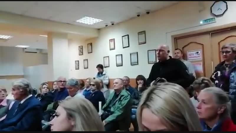 Встреча и о главы управы района с жителями Измайлово