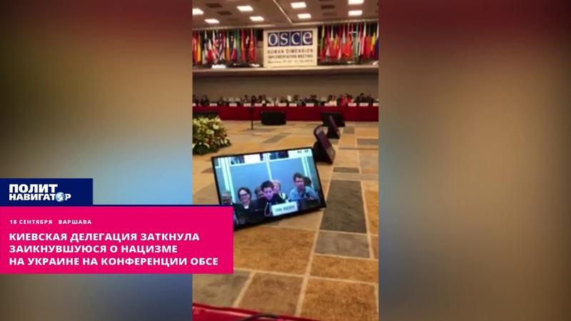 Киевская делегация заткнула заикнувшуюся о нацизме на Украине на конференции ОБСЕ