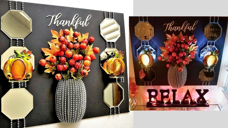 Diy 3D Vase and Fall Wall Decor using Dollar Tree Items Quick and Easy Fall Decor