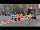 Работы по обновлению дорожной разметки на Большой Якиманке