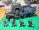 Конструктор Sluban. Лего военная машина - грузовик..Русское лего.