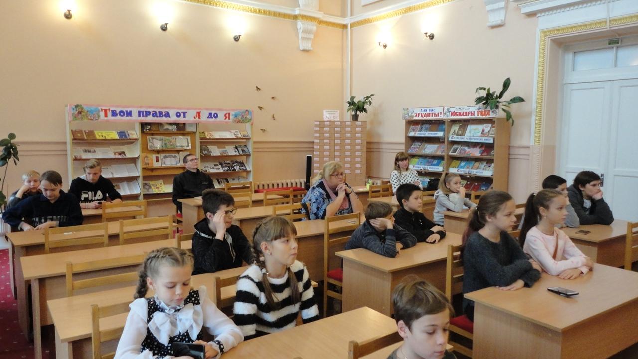 Донецкая Республиканская библиотека для детей, отдел обслуживания учащихся 5-9 классов, писатели-юбиляры, посещение библиотеки, экскурсия