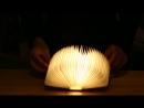 USB перезаряжаемый светодиодный магнитный складной деревянный книжный светильник Лучший подарок на Рождество и День рождения