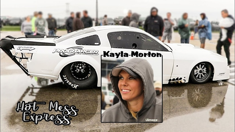FASTEST WOMAN IN THE 405! KAYLA MORTONS PROCHARGED MUSTANG! STREET OUTLAWS! NO PREP KINGS! RT66!