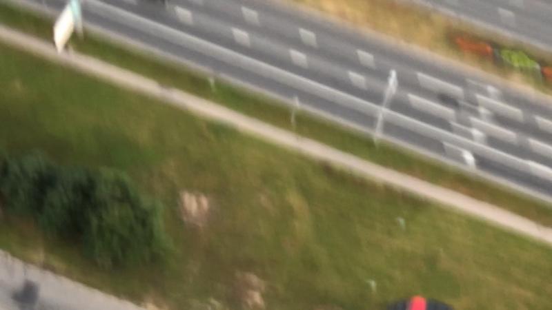 Прыжок с нашей крыши около 50ого этажа Wellhouse на Ленинском