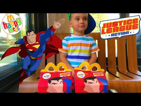Новые игрушки Хеппи Мил Макдональдс Лига справедливости New toys Happy Meal McDonalds Justice League