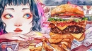 HUNGRY Watercolor series 01