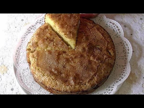 Яблочный пирог на кефире за 10 мин. время выпечки. Нежный , с хрустящей корочкой.