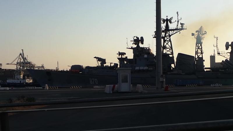 Выход Сметливого с порта Лимассол .Кипр 21.07.2018