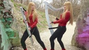 DIO - Rainbow in the Dark (Harp Twins) Camille and Kennerly