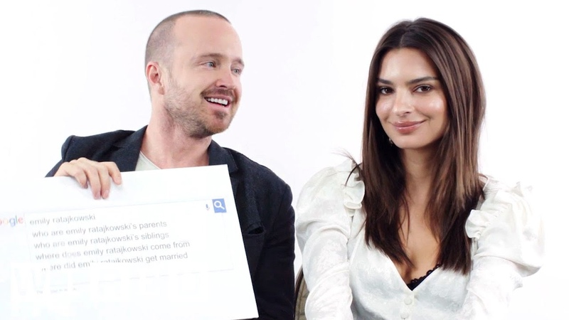 Emily Ratajkowski Aaron Paul Answer the Web's Most Searched Questions WIRED