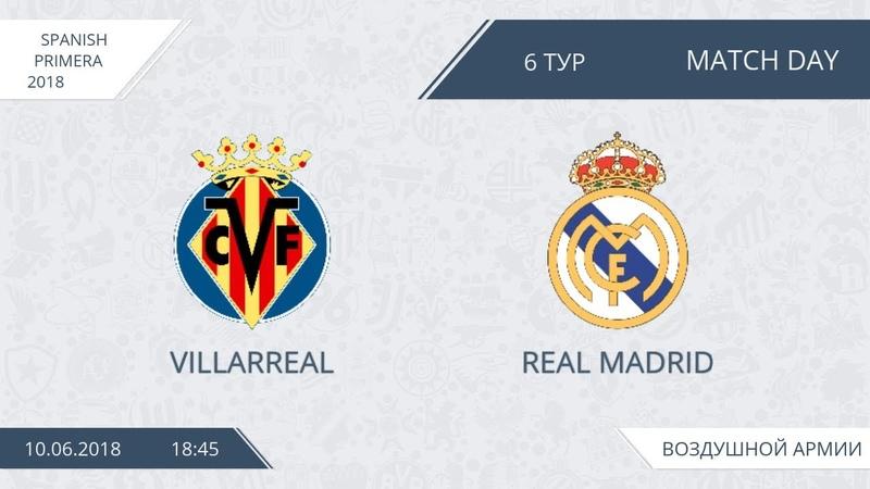Villarreal 2:2 Real Madrid, 6 тур (Испания)