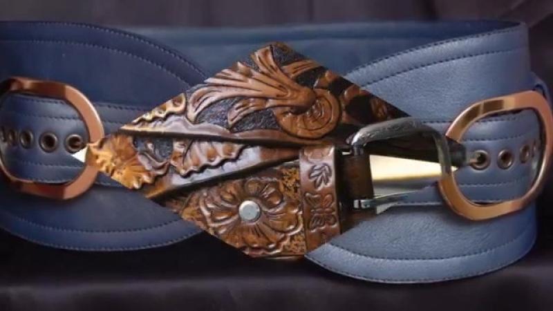 Восхитительные кожаные пояса ручной работы