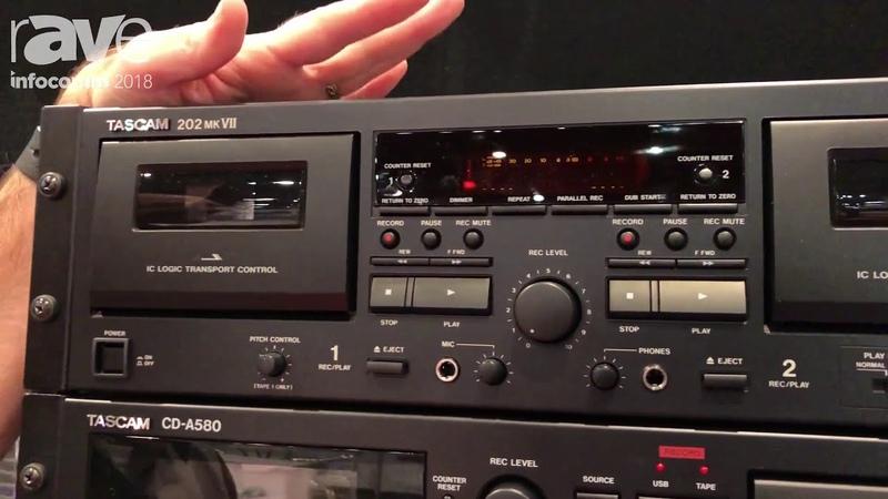 InfoComm 2018 TASCAM Introduces the TASCAM 202 MK VII Dual Cassette Deck