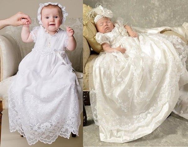 Крестильное платье на возраст от 3 до 18 месяцев