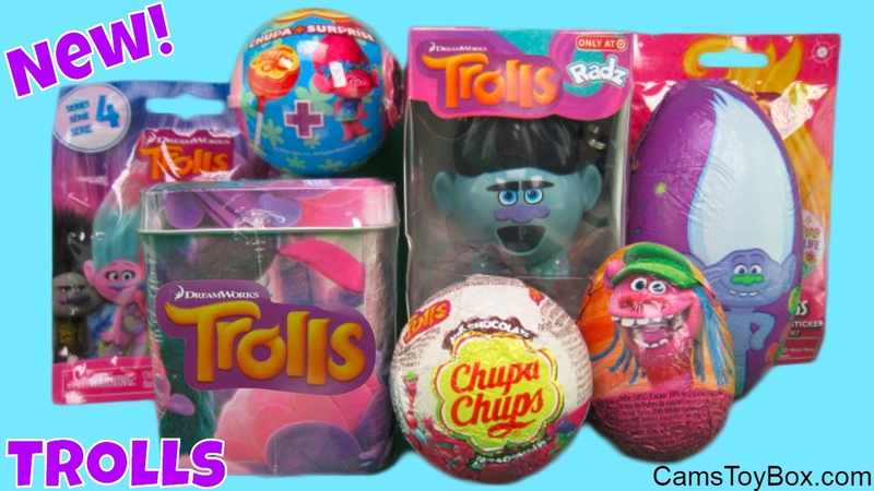 Dreamworks Trolls Surprise Toys Blind Bag Series 4 Chupa Chups Lollipop Chocolate Egg Dog Tags Tin