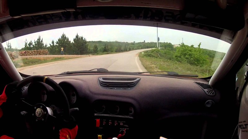 FWD Alfa Romeo 156 Rally-Racecar with Manual Gearbox and TorSen T-3 Front Diff in action (OnBoard)!