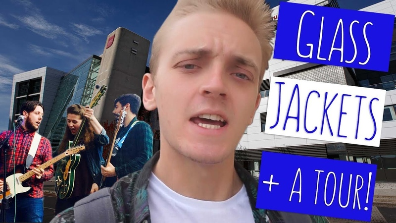 CAMPUS TOUR AND A CHAT WITH A BAND! | Tom talks with Glass Jackets at USW Cardiff