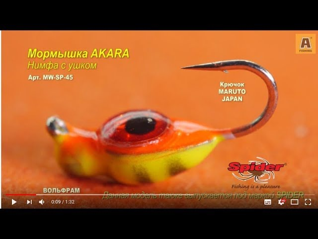 Братья Щербаковы тестируют мормышку AKARA нимфа с ушком Мормышка W Spider Нимфа модель 45