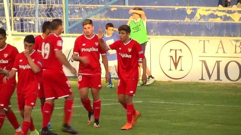El emocionante tributo a Fran Carles, muy por encima del resultado. 21/05/18. Sevilla FC