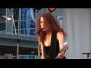 Melissa Auf der Maur @ Dundas Square performing Followed the Waves