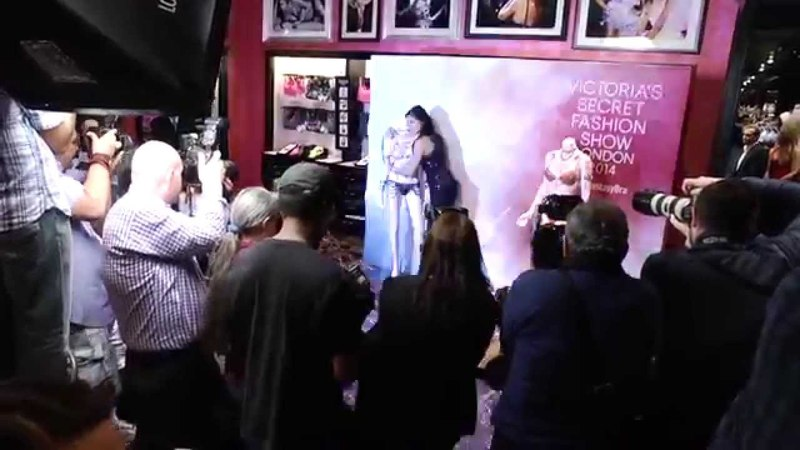 Adriana Lima Alessandra Ambrosio: VS Fantasy Bras 2014 - Press Day Store Event in Las Vegas