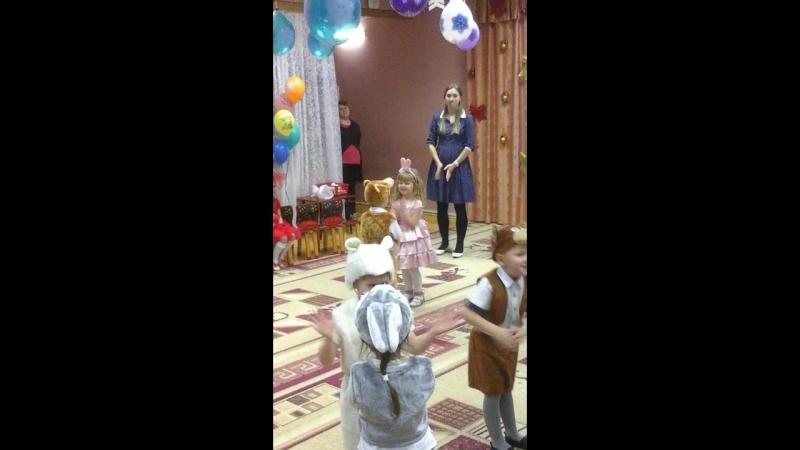 Новогодний утренник 2018 Сашуля Стих и танец игрушек