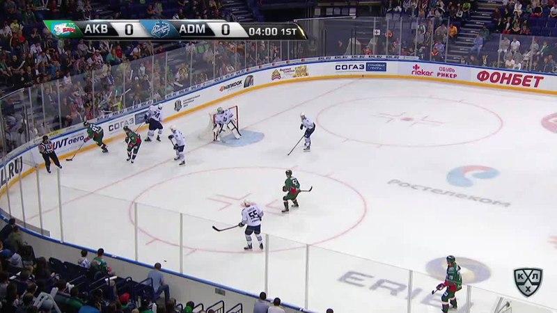 Моменты из матчей КХЛ сезона 1718 • Опасный момент. Ландер Антон (Ак Барс) в ближний бросал 26.08