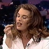 Brooke Shields ties a cherry knot on Jay Leno, 1995