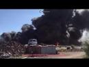 Крупный пожар в Волжском на свалке с сотнями покрышками