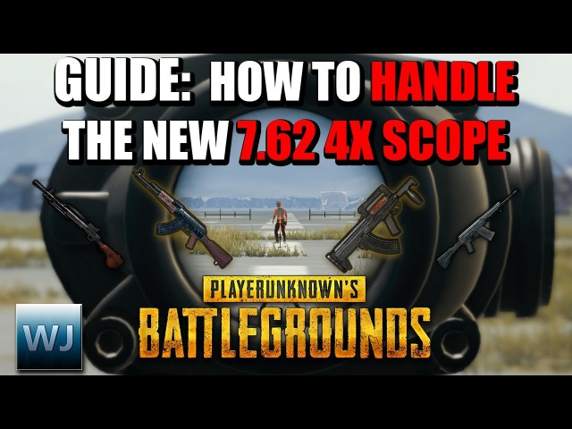 GUIDE: How to HANDLE the NEW 7.62 4X Scope (Aim points Range Finder) - PUBG