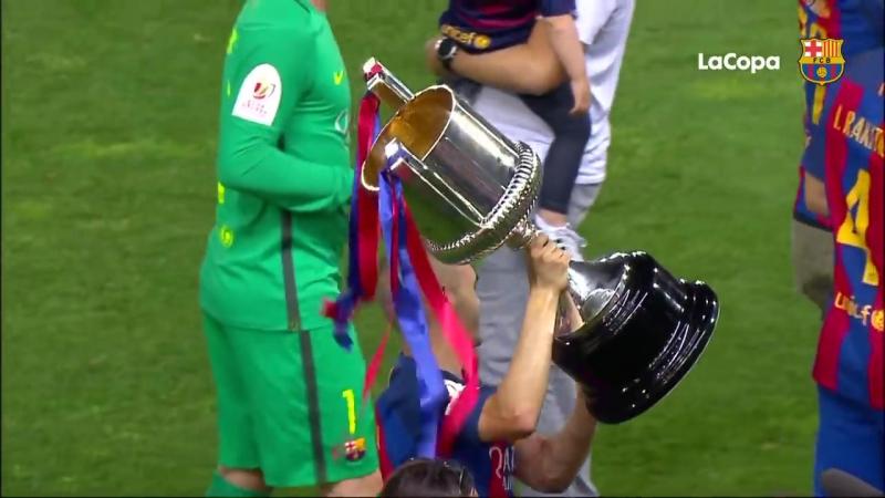 Празднования Кубка Испании на Висенте Кальдерон!