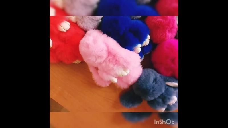 Меховые КРОЛИКИ брелки 1500 тенге для подписчиков и друзей Магазина