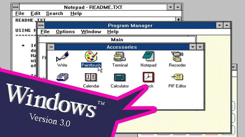 Windows 3.0 (1987 года) - Смотрим легенду в режиме CGA! (17 Бит Тому Назад)