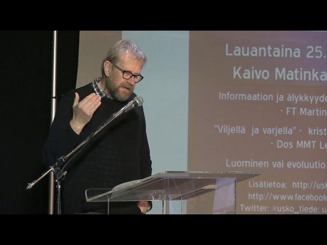Usko ja tiede -foorumi 2017   Lennart Saari Viljellä ja varjella