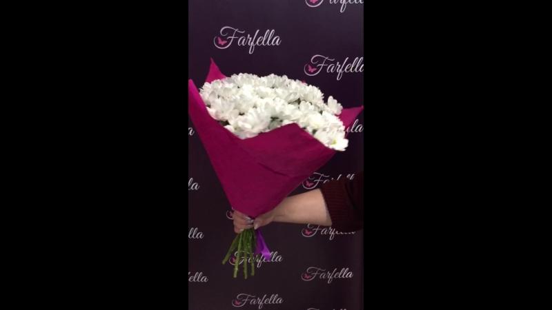 букет из ромашковой хризантемы 375295455032 Цветочный магазин Farfella